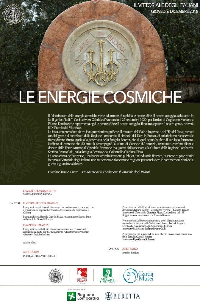 Dare In Brocca.Le Energie Cosmiche Fondazione Il Vittoriale Degli